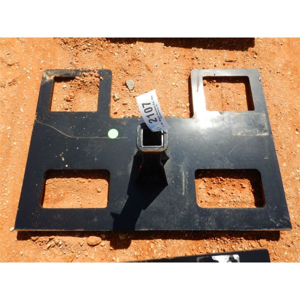 REESE HITCH ATTACHMENT, FITS SKID STEER LOADER (B5)
