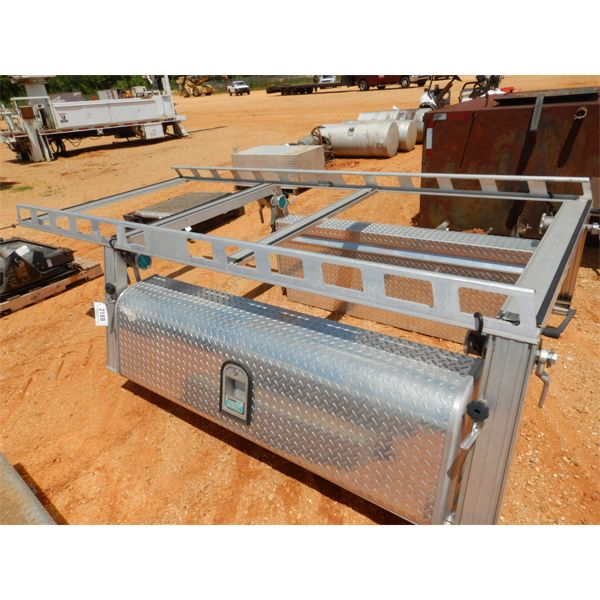 SYSTEM ONE ALUMINUM TOOL BOXES W/RACK (A1)