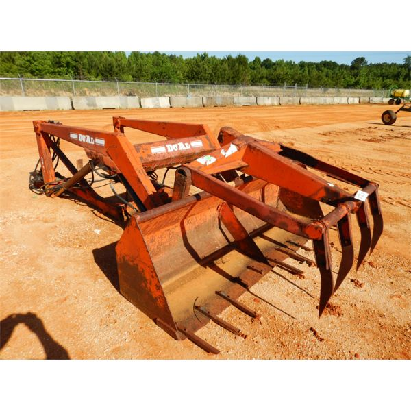 DUAL FRONT END LOADER W/GRAPPLE BUCKET (C3)