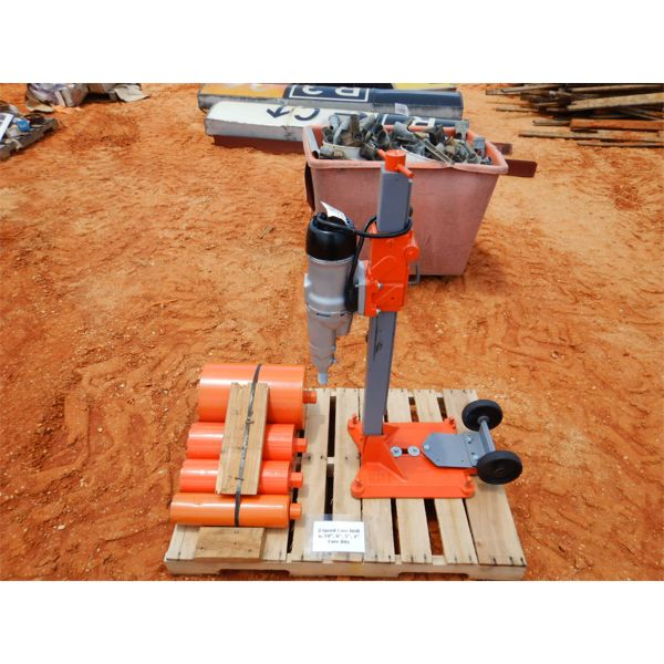 """2 SPEED CORE DRILL WITH 10"""", 6"""", 5"""", 4"""" CORE BITS (B9)"""