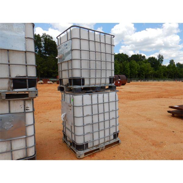 (2) 330 GALLON PLASTIC TANK W/METAL CAGE (B7)
