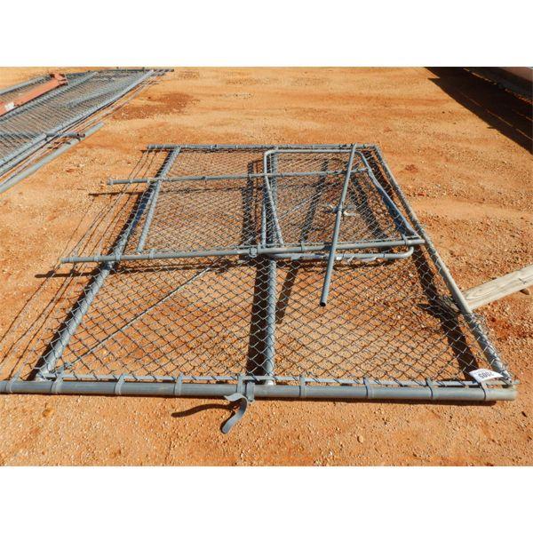 "CHAIN LINK FENCE GATES, (2) 3' LONG, (1) 9' 6"" LONG (C4)"