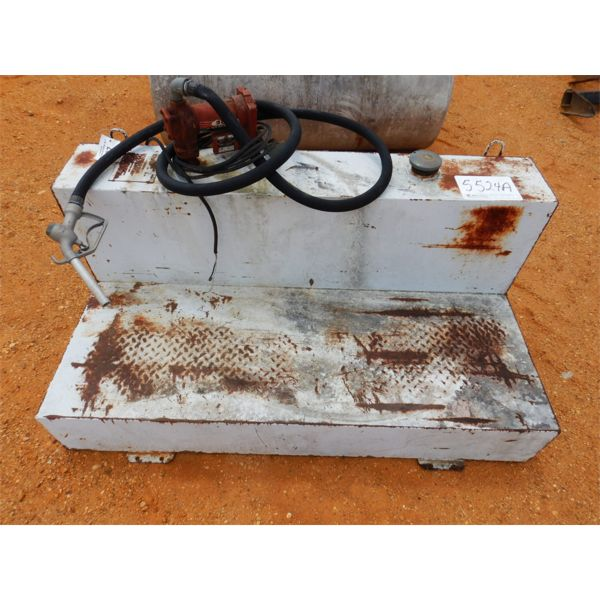 105 GALLON L-SHAPE STEEL FUEL TANK W/12V PUMP (A1)