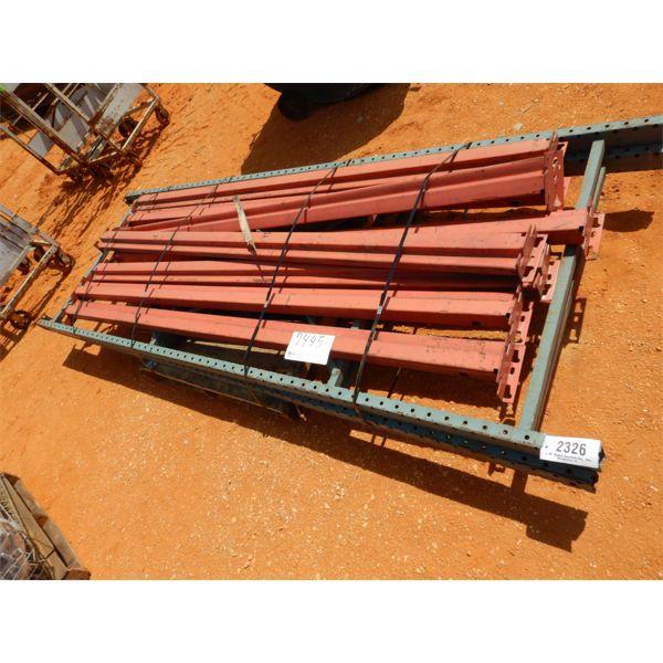 (1) PALLET SHELVING RAILS W/SUPPORT POSTS (B-9)