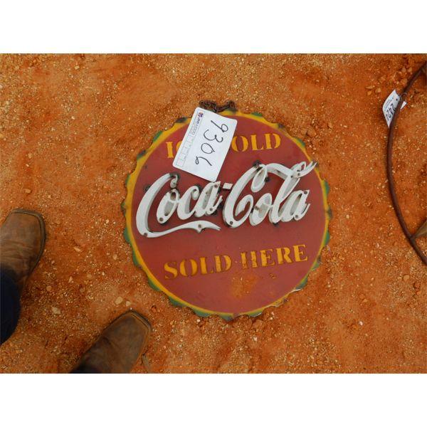 METAL COCA COLA SIGN (C-6)