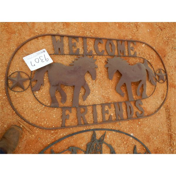 METAL WELCOME FRIENDS SIGN (C-6)