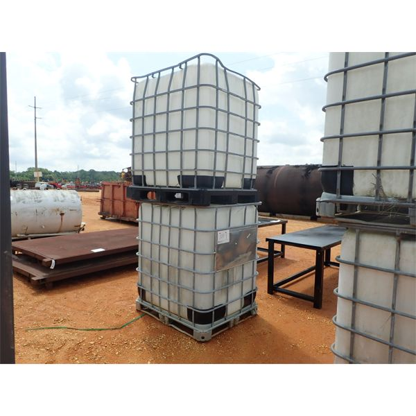 (2) 300 GALLON PLASTIC TANK W/METAL CAGE (B-7)