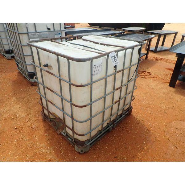 275 GALLON PLASTIC CONTAINER W/METAL CAGE (B-7)