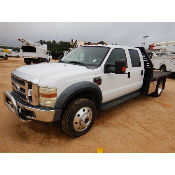 2008 FORD F550 LARIAT Flatbed Truck