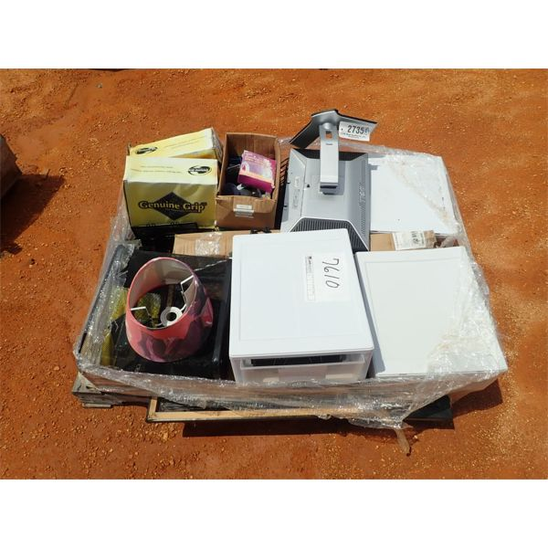 (1) PALLET MISC, STORAGE BOXES, SHOES MISC ELECTRONIC (B-9)
