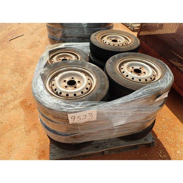 (1) PALLET (15) P155/80R13 TIRES & RIMS