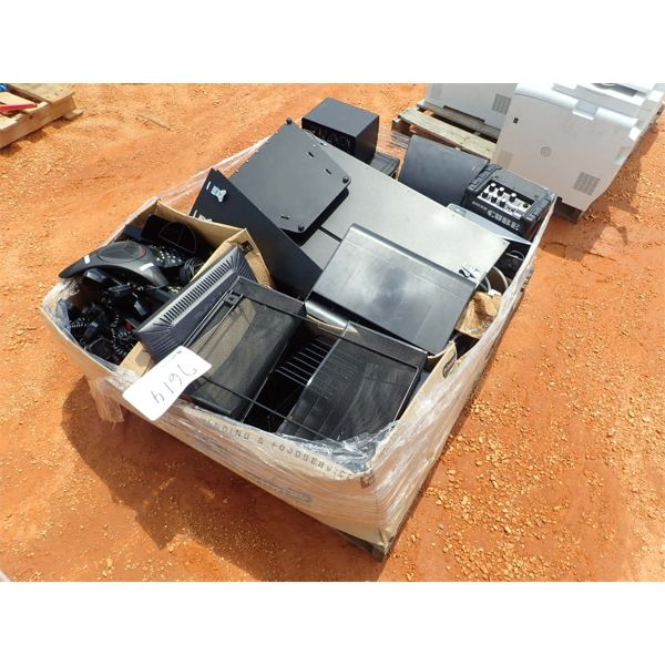 (1) PALLET MISC OFFICE TELEPHONE, PAPER FOLDER, MISC ELECTRONIC