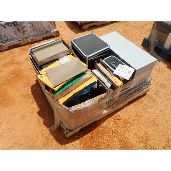 (1) PALLET OFFICE SUPPLY & SHIPPING CONTAINER (B-9)