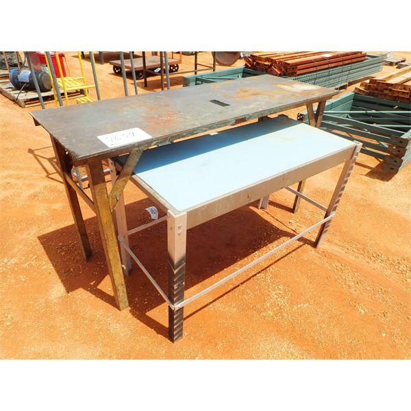 (2) METAL TABLES (B-9)