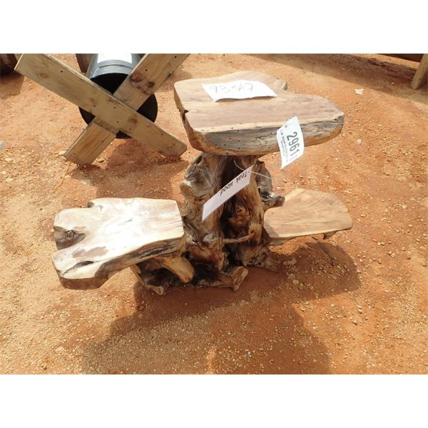 TEAKWOOD 3 LEVEL TABLE