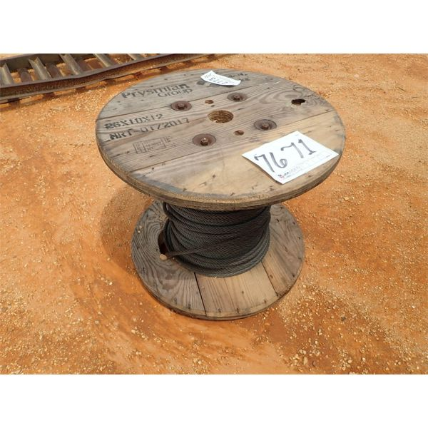 (1) SPOOL OF STEEL CABLE