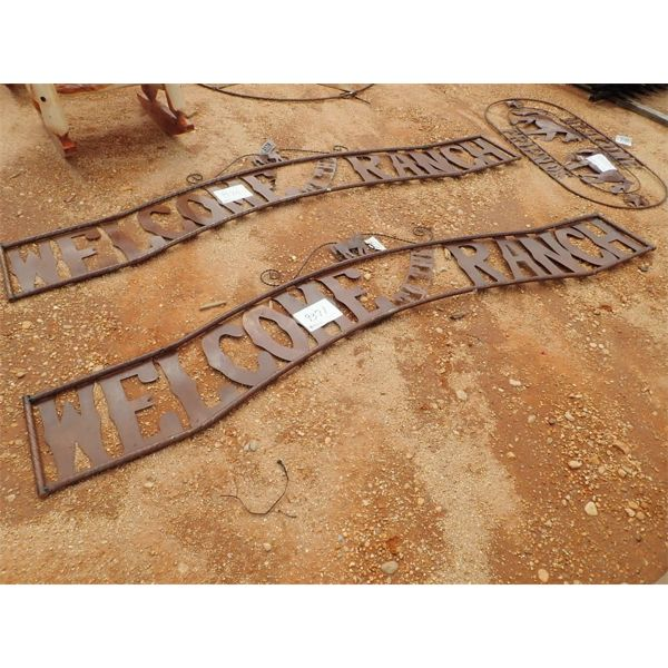 Welcome to the ranch metal sign(C-6)