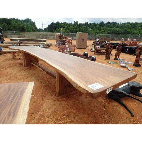 17' Teakwood table (C-6)
