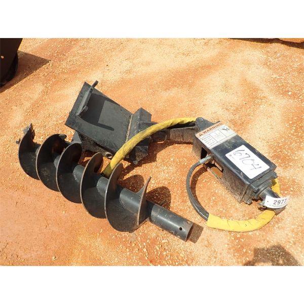 "hydraulic auger, 12"" wide bit, fits skid steer loader"