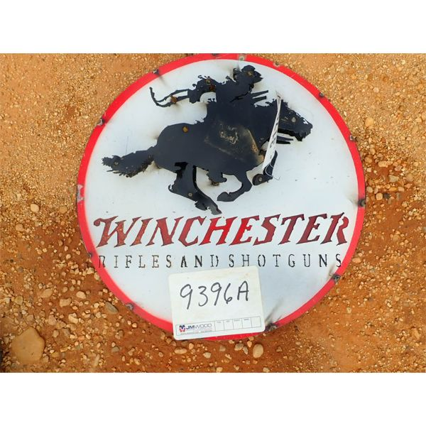 Winchester metal sign (C-6)