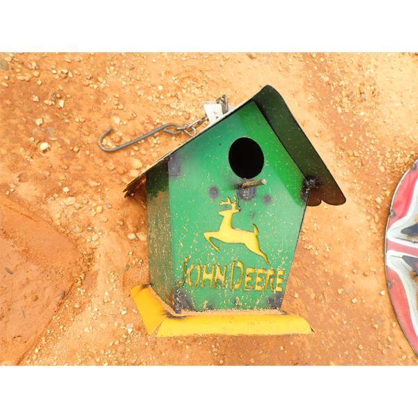 metal bird house  (C-6)