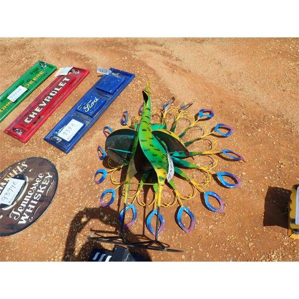 metal peacock (C-6)