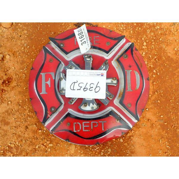 metal fire dept sign (C-6)