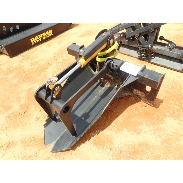 STUMP BUCKET WITH GRAPPLE, FITS SKID STEER LOADER