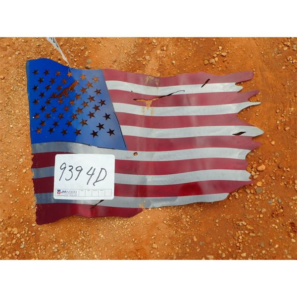 metal American flag (C-6)