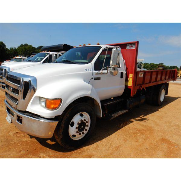 2005 FORD F650 Flatbed Dump Truck