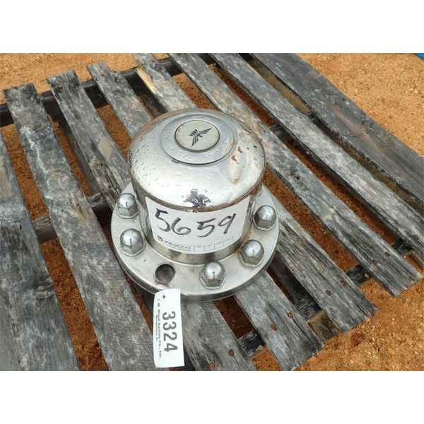 TRACTOR TRUCK WHEEL HUB COVER, FRONT AXLE