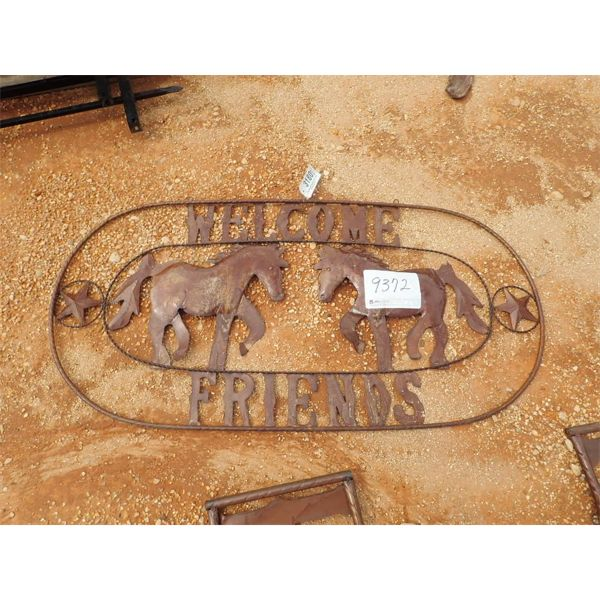 Welcome Friends metal sign(C-6)