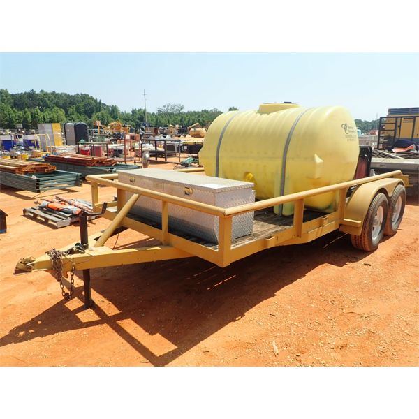 HOT WATER PRESSURE WASHER, GAS ENGINE MTD ON T/A TRAILER W/400 GALLON WATER TANK, HOSE REEL W/HOSE &