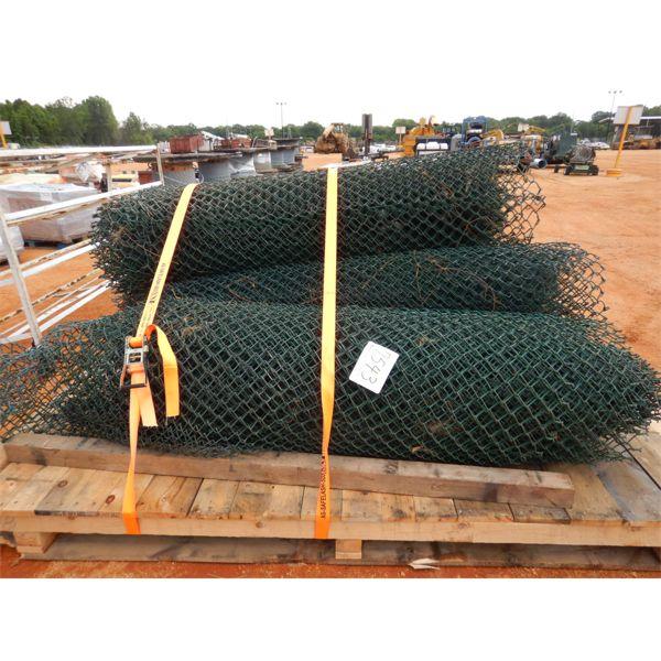 (4) ROLL GREEN CHAIN LINK FENCHING (B-9)