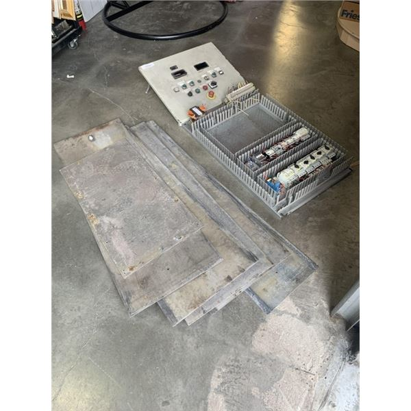 LOT OF METAL PANELS, DOORS AND ELECTRICAL PANEL
