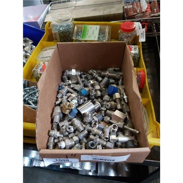 TRAY OF STAINLESS FITTINGS