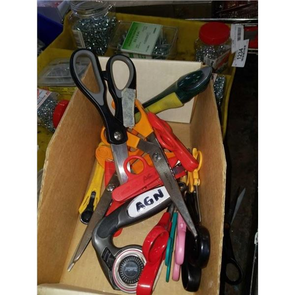 LOT OF ROTARY CUTTERS, FABRIC SHEARS, SCISSORS