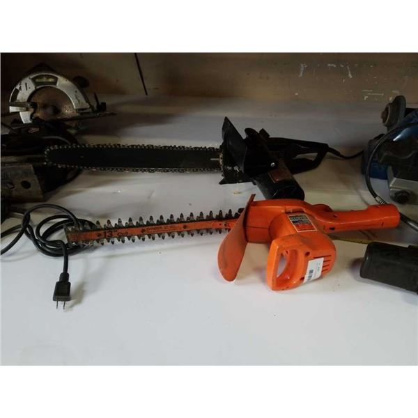 ELECTRIC CHAINSAW AND HEDGER
