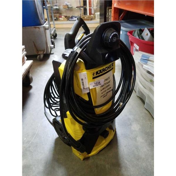 Karcher pressure washer with new high pressure hose needs nozzle