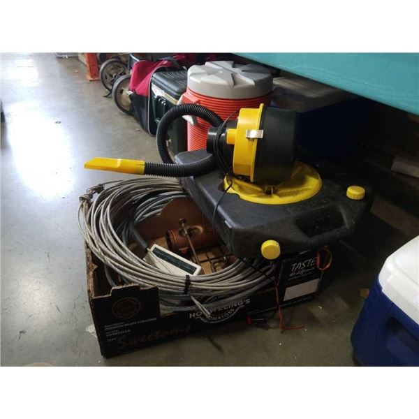TRAY OF WIRE CABLE, CAR VACUUM