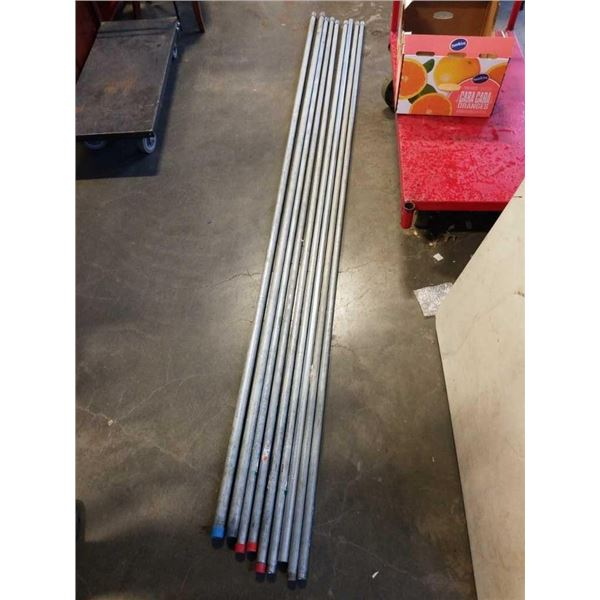 9 PIECE THREADED END CONDUIT PIPE - APPX 10 FOOT LONG
