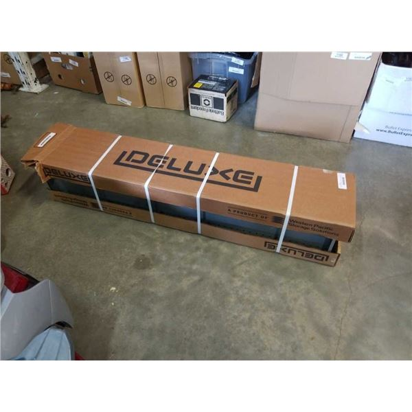 Box of new western pacific metal storage shelves