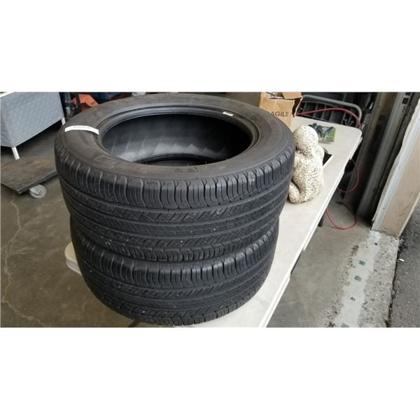 PAIR OF MICHELIN 235/55R17 INCH TIRES MUD AND SNOW