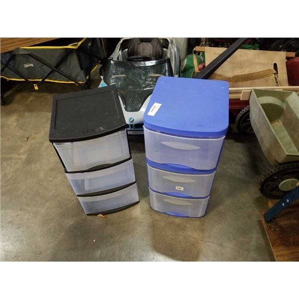 3 PLASTIC ORGANIZER DRAWERS