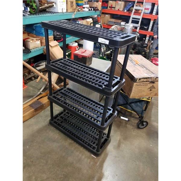 BLACK PLASTIC 4 TIER SHELF