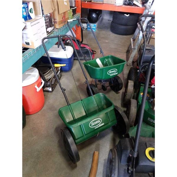 2 scott seed spreaders