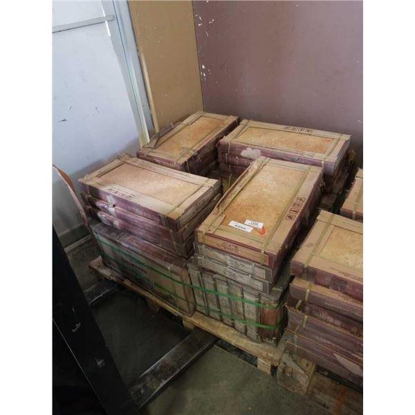 35 BOXES OF COPPER TILE 300 X 600 MM - APPX 500 SQFT