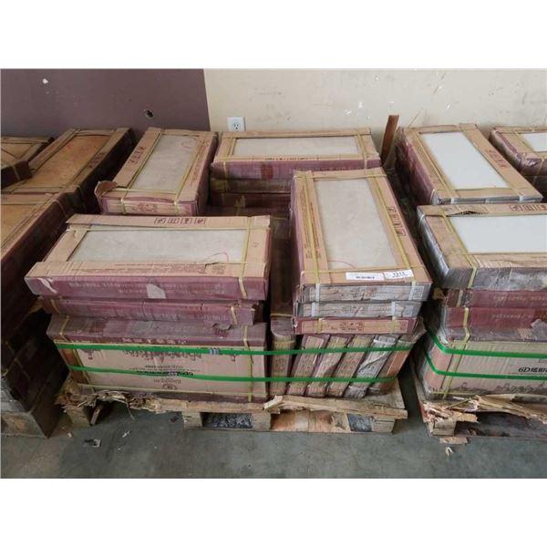 35 BOXES OF BEIGE TILE 300 X 600 MM - APPX 500 SQFT