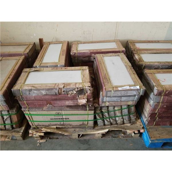 35 BOXES OF OFF WHITE TILE 300 X 600 MM - APPX 500 SQFT
