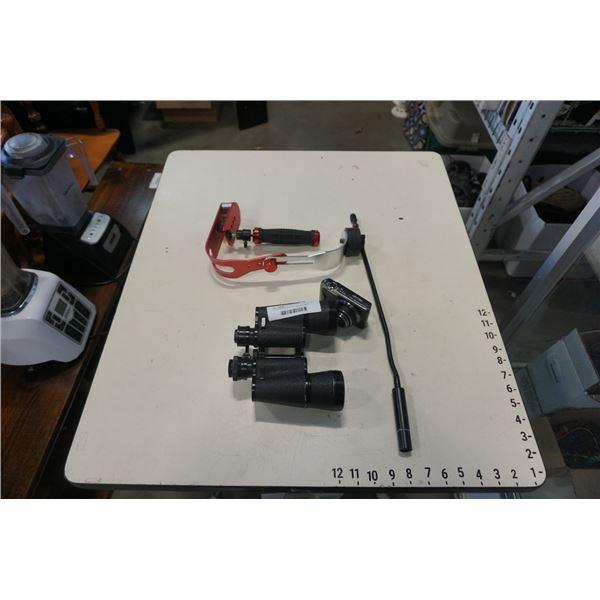 Gyro steadyshot with binoculars and digital camera